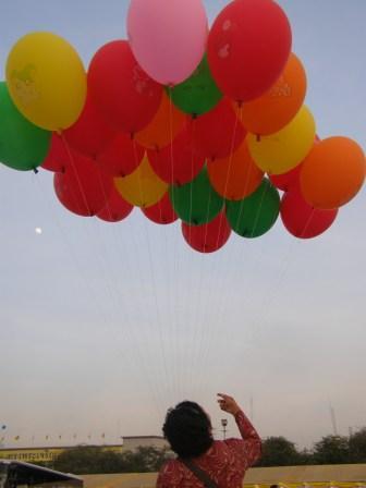 Balloon seller in Bangkok