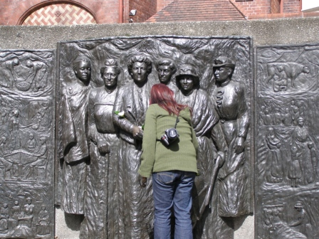 Kate Sheppard memorial, Oxford Terrace Christchurch