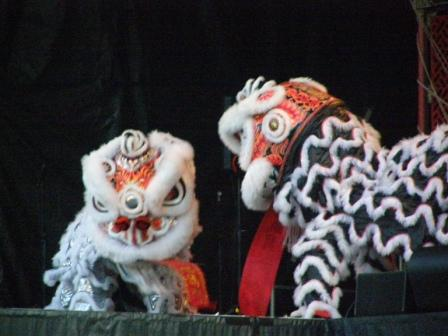 Local (Christchurch) lion dancers