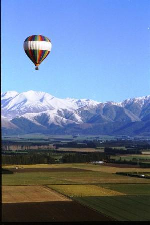 hot air balloning in Canterbury New Zealand
