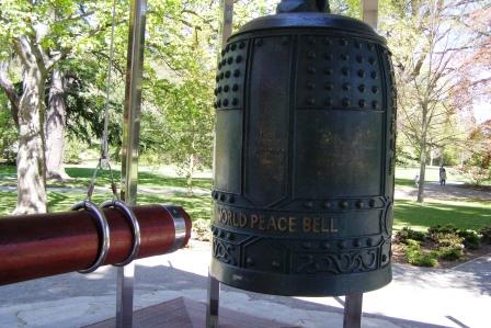 peace bell Christchurch Botanic garden