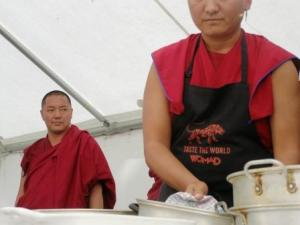 Its not all cooking - Gyuto Monks demonstrate their cooking skills