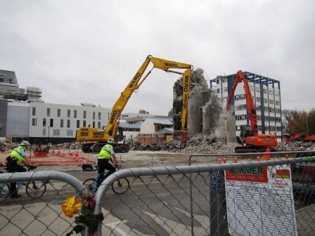 Quake photos: history gone, and CTV rubble cleared (11th May 2011)