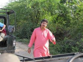 Dhanraj sees us off on a safari