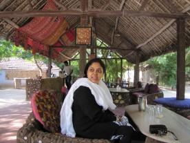 Our hostess . . . Zyda