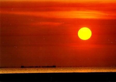 Sunset in Parit Jawa, East Coast, peninsula Malaysia