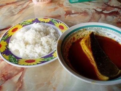 Asam Pedas for breakfast: Parit Jawa, Malaysia