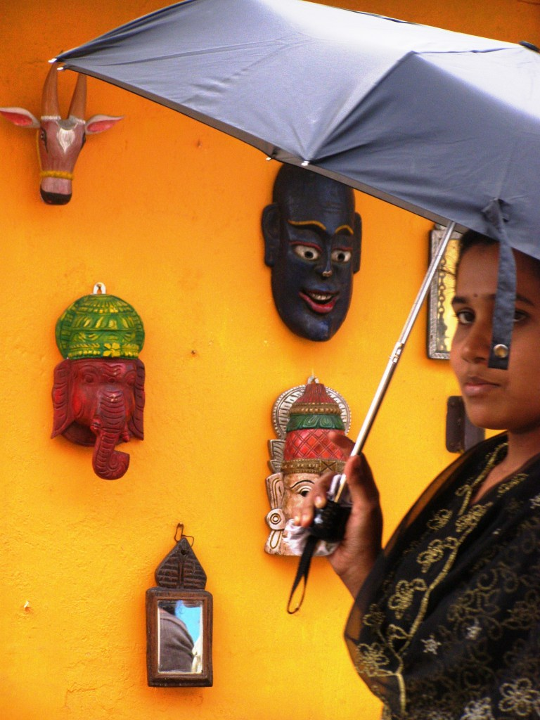 Woman and masks ... Cochin