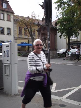 Heather, the KiwiTravelWriter at work in Wurzburg