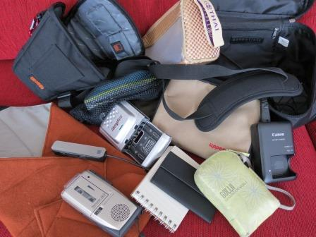 Media needs a variety of bags .. for batteries, leads, chargers etc