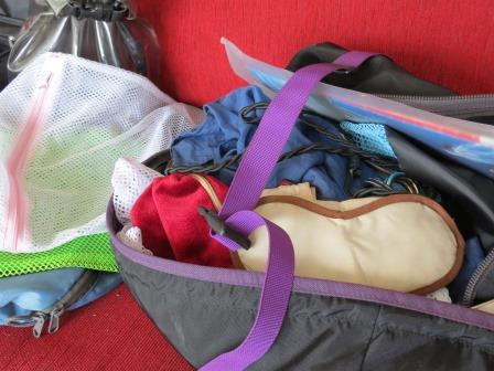 I keep all my travel bag bits and pieces handy in one bag