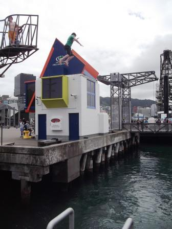 websize waterfront diving board