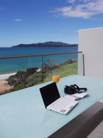 Sometimes it's hard to be a travel writer with view like this. Not! My view from Doubtless bay Villas