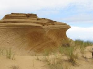 Amazing windblown shapes and gulleys