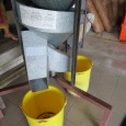 Simple and effective: a gravity-fed separator.