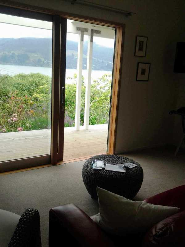 View of the harbour from the couch
