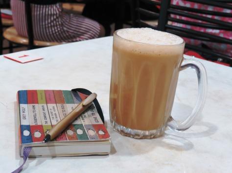 Teh tarik and my notebook - Malaysia