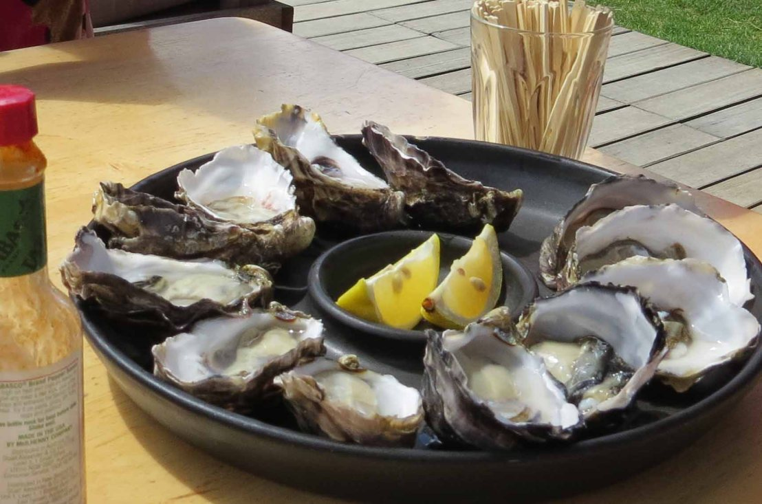 Food, glorious food: oysters, berries, and chocolate