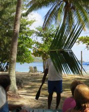our food basket is created from coconut palm fronds