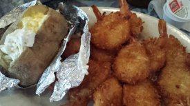 Prawns and potato