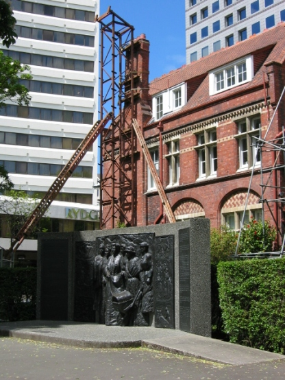 Kate Sheppard memorial behind the Council Chambers