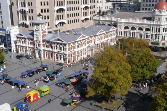 The square from top of cathedral