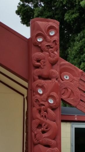 these carvings show it's a Taranaki marae