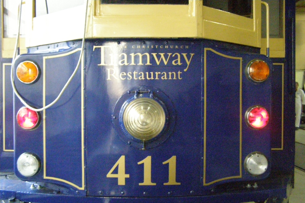 Baby of the fleet - 411 came from a Sydney, Australia, Tram Museum