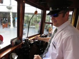 Motorman happy with his job
