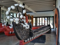 More feather adorn the waka taua