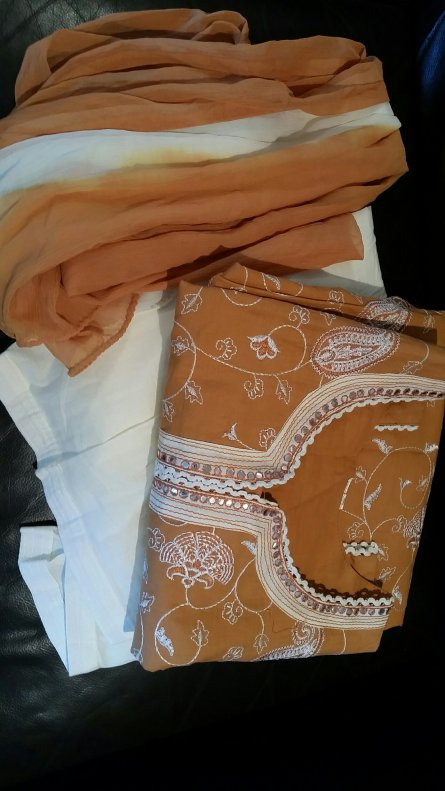 Cream Indian outfit