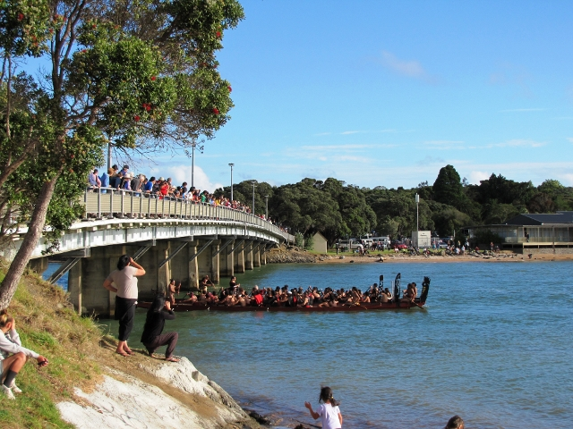 Waka play a big role in Waitangi