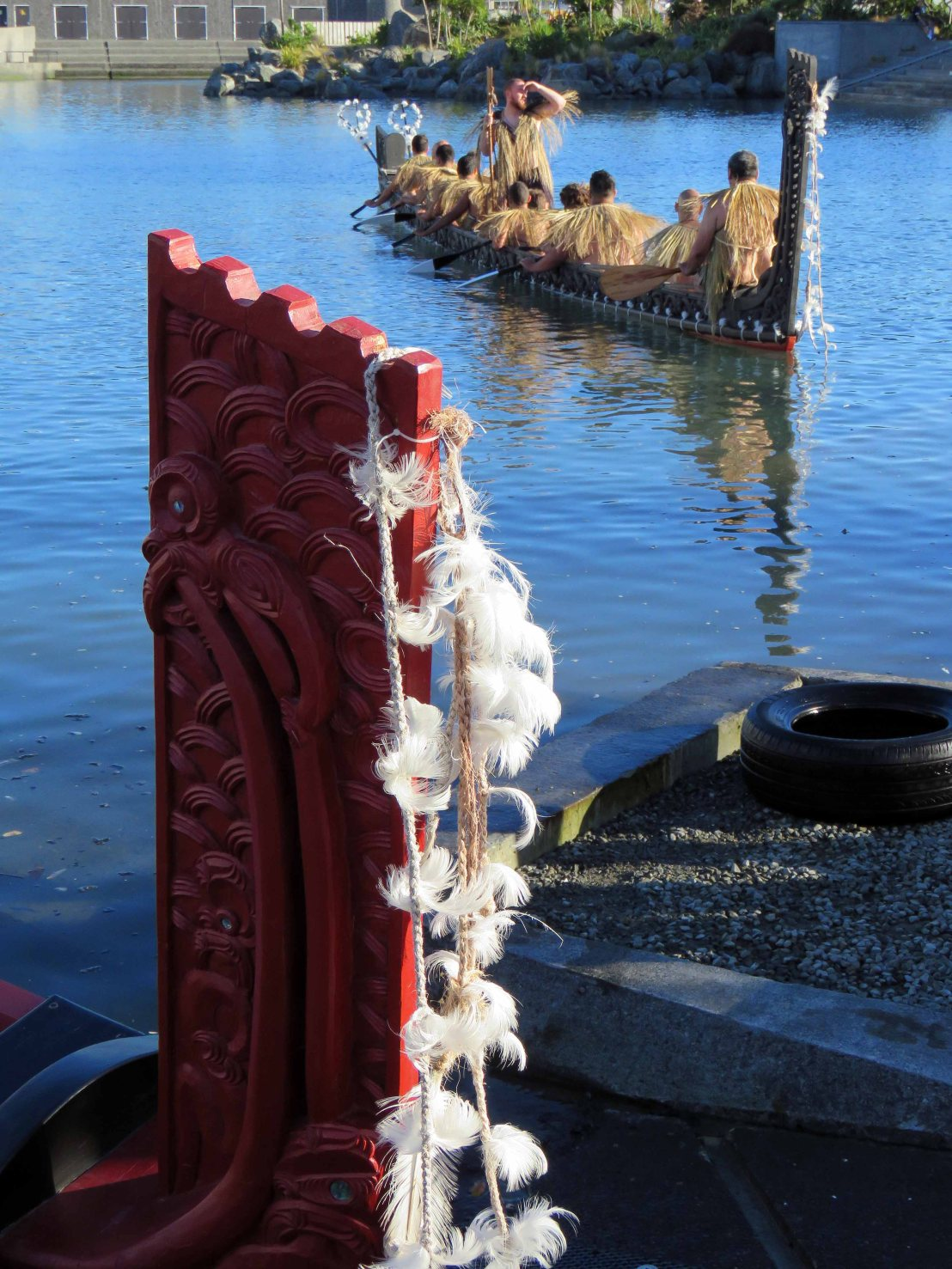 Waitangi Day and a hangi at the Wharewaka in Wellington