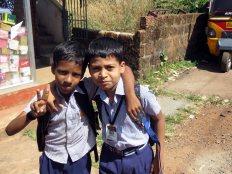 Schoolbiys want their photos taken!
