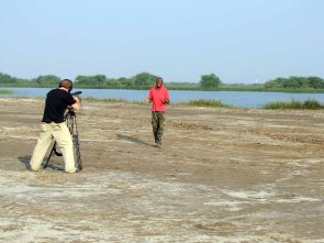 With John Haggins on salt plains india