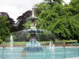 Peacock fountain Botanic Gardens Christchurch