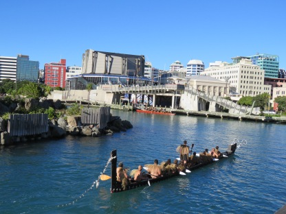 waka on Wellington Harbour