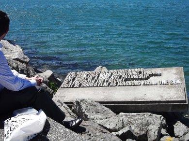 Wellington waterfront Writers walkway