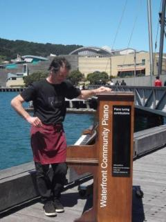 Ready to play a tune Wellington waterfront