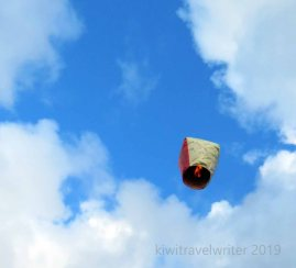 up up and away to that spot of blue sky